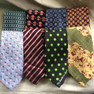 Lot of 8 floral print neckties variety
